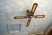 Ceiling fans are not a problem for clouds and stars, it just take extra time to blend in the stars.